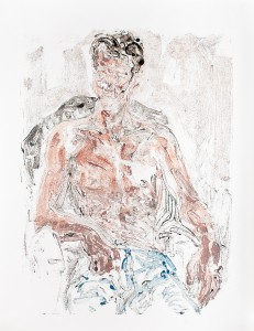 Impression Bastien (1), Oil on paper, 124,6 X 96,8 cm, 2013