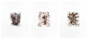 Impression self-portrait, Oil and graphite on paper, 3 X 80 X 60cm, 2013