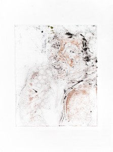 oil and pigment on paper, 75 X 55cm, 2013